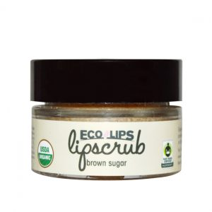 Eco Lips Lip Scrub in Brown Sugar