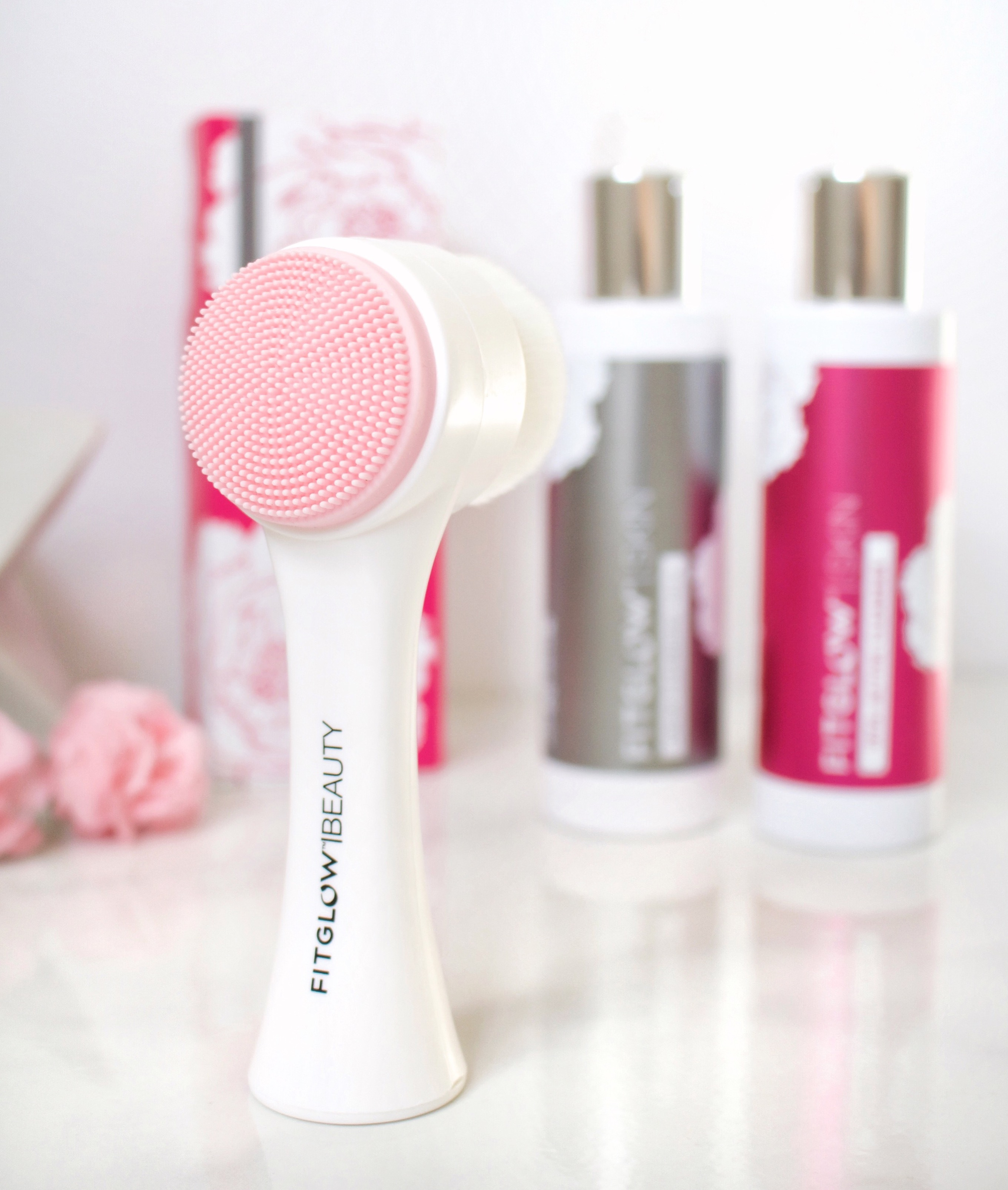 Fitglow Beauty Face Cleansing Brush Organic Bunny