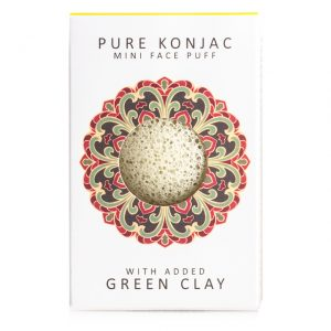 The Konjac Sponge Mini Pore Refining French Green Clay Sponge