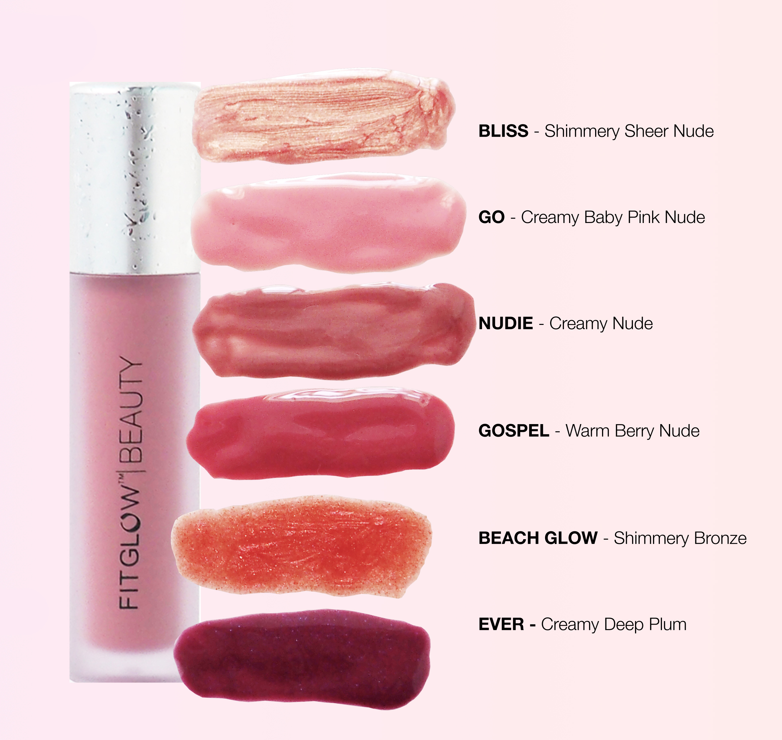 Fitglow Beauty Lip Colour Serum In Gospel Organic Bunny