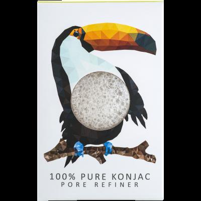 The Konjac Sponge Mini Pore Refining Rainforest Toucan