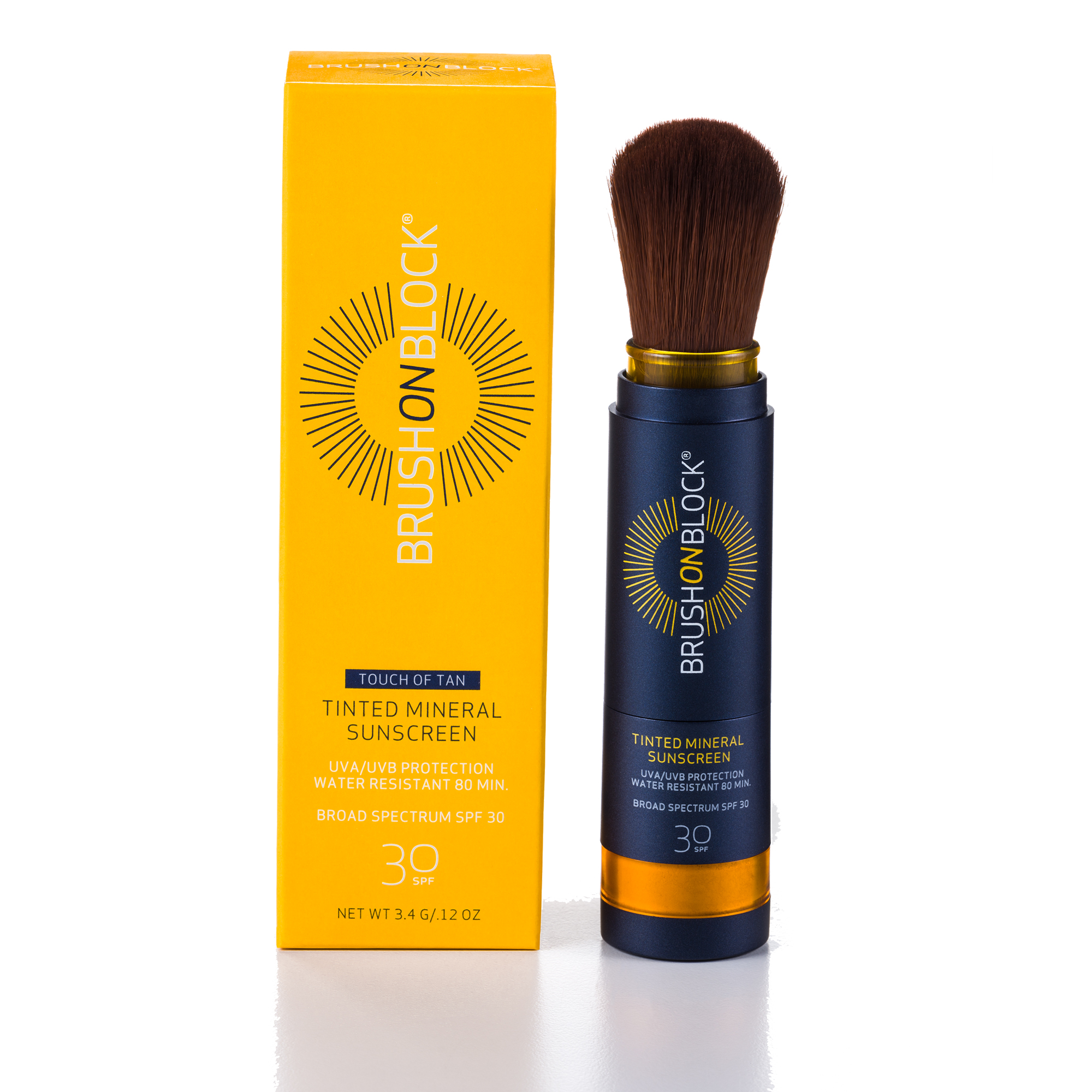 Brush On Block Touch Of Tan Mineral Powder Sunscreen